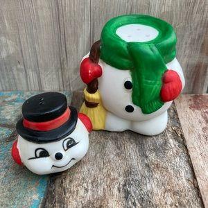 Vintage Nasco Snowman Salt & Pepper Shakers